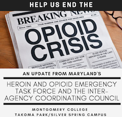 Governor's Opioid Task Force Returns to MC Nov. 30 at the TP/SS Campus