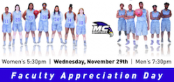 Tonight in the Main Gym: Faculty and Staff Appreciation Night at MC's Basketball Doubleheader