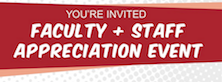 Faculty & Staff Appreciation Event Wednesday - MC Campus Stores
