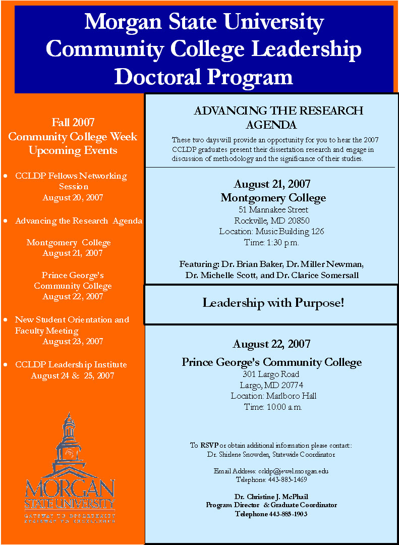 dissertations community college leadership Core courses: these courses are required of all ed d students (36 sh)  community college leadership initiative track courses (12 sh) dissertation ( 12 sh).