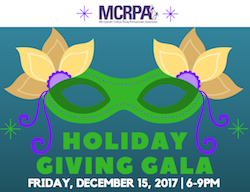 You're All Invited to the MCRPA Holiday Giving Gala, Friday Evening, Dec. 15 in the BE Building