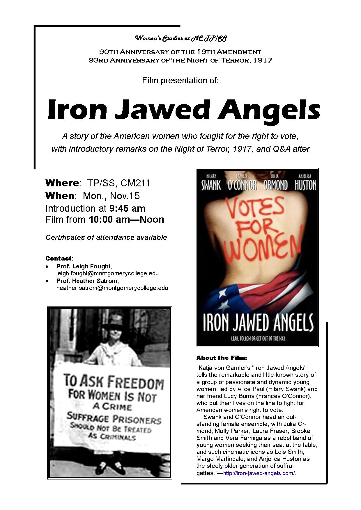 iron jawed angels analysis essay