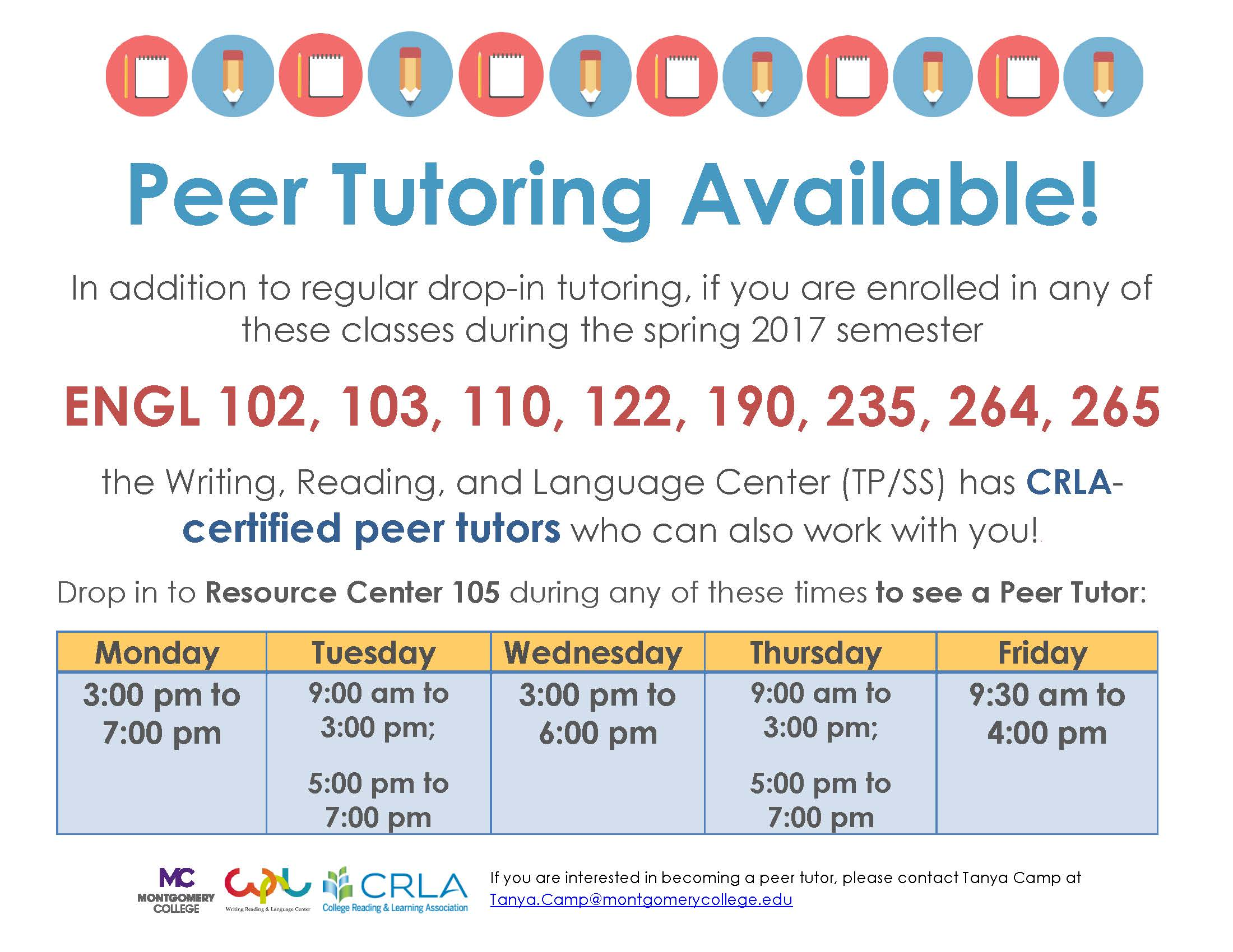 For Students English Peer Tutors Available In The Writing Reading